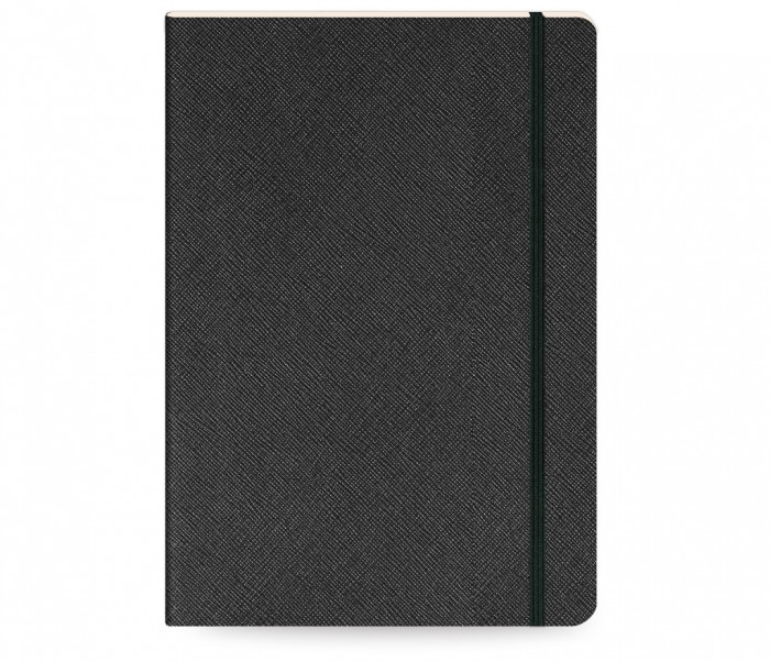 Moments Notebook Ruled Large Black